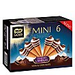 Mini conos de nata y chocolate 6 ud Gold Nestlé
