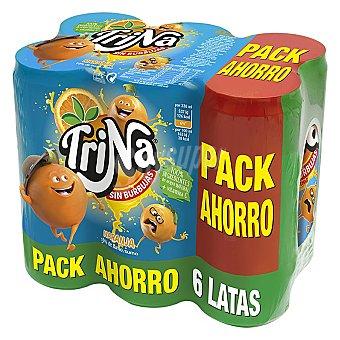 Trina Refresco de naranja sin gas pack de 6x33 cl