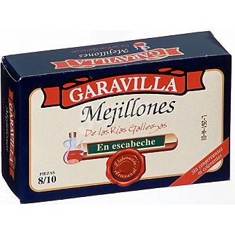 Garavilla Mejillones en escabeche de las rías gallegas 8-10 piezas Lata 69 g neto escurrido