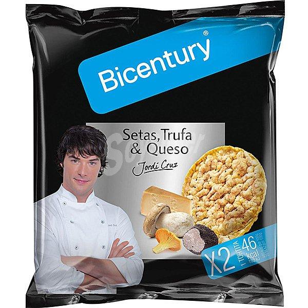 Bicentury tortitas de maiz con setas trufa y queso por for Arroz con setas y trufa