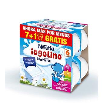 Nestlé Iogolino postre lácteo sabor natural pack 8 unidades 100 gr Pack 8 unidades 100 gr
