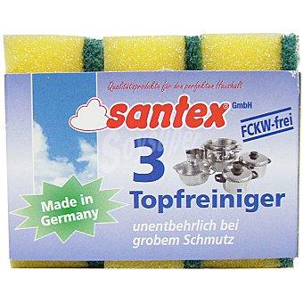 SANTEX Estropajo con esponja Topfreiniger paquete 3 unidades Paquete 3 unidades