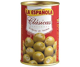 La Española Aceitunas verdes manzanilla rellenas de anchoa Lata de 130 grs