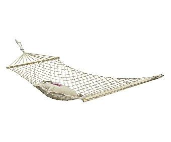 GARDEN STAR Hamaca para jardín y camping con red textil, individual 1 unidad