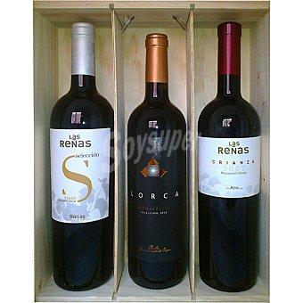 Las Reñas Vino tinto crianza Las Reñas Selección y Lorca selección monastrell de Murcia estuche 3 botellas 75 cl Estuche 3 botellas 75 cl