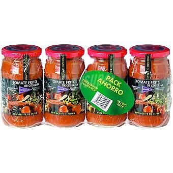Hipercor Tomate frito de cosecha Pack ahorro 4 frasco 350 g