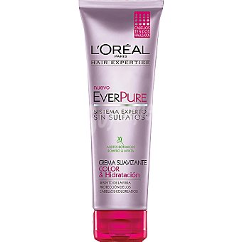 Solar Expertise L'Oréal Paris Crema suavizante everpure Color & Hidratación con aceites botánicos romero y menta tubo 250 ml para cabellos teñidos y fragilizados Tubo 250 ml