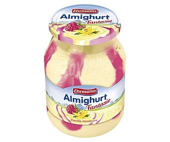 Ehrmann Yogur con sabor a frambuesa y vainilla 500 gramos