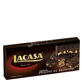 Lacasa Turrón de praliné de brownie 200 g