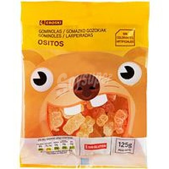 Eroski Caramelos masticables de ositos Bolsa 125 g