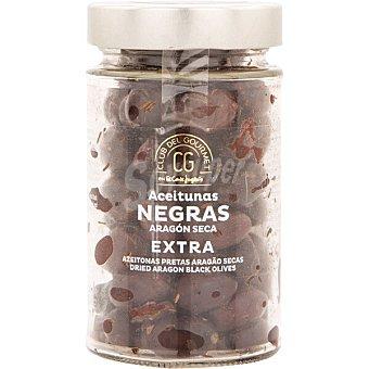 Club del gourmet Aceitunas negras Aragón seca extra Tarro 190 g neto escurrido