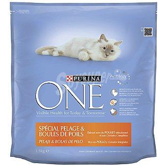 PURINA ONE ADULT Especial pelaje y bolas de pelo con pollo y cereales integrales bolsa 1,5 kg Bolsa 1,5 kg