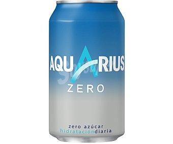 Aquarius Zero bebida refrescante aromatizada limón Lata 33 cl