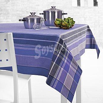 CASACTUAL Dublín 8264 mantel jacquard rectangular en color azul 150 x 200 cm