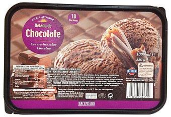 Hacendado Helado tarrina chocolate con trocitos 1 l