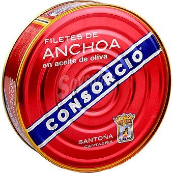 Consorcio Filetes de anchoa en aceite de oliva Lata 400 g neto escurrido