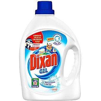 Dixan Detergente líquido gel con quitamanchas + anti-cal Botella 31 dosis