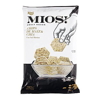 Mios Chips de maíz y chía con sal marina Bolsa 150 g