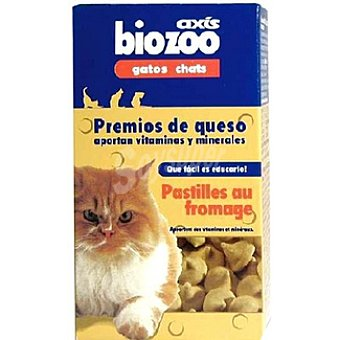 Biozoo Axis Premios de queso para gato con vitaminas y minerales Paquete 125 g
