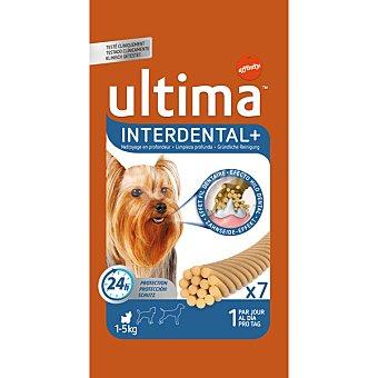 AFFINITY ULTIMA INTERDENTAL + limpieza profunda contra la placa dental de perros pequeños 7 unidades envase 70 g 7 unidades
