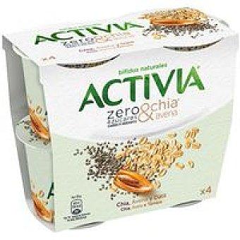 Danone Activia zero azúcares añadidos chía-avena Pack 4 x 115 g