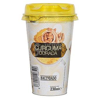 Hacendado Bebida vegetal curcuma dorada (almendra con curcuma) Vaso 230 cc