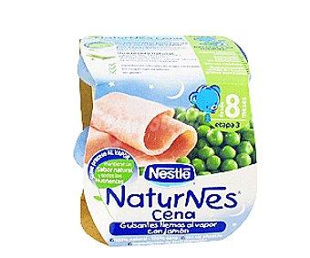 Naturnes Nestlé Tarrito de Guisantes con Jamón 2x200g