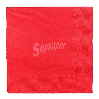 CM 20 Servilletas desechables 33x33 3 capas Red 20 ud