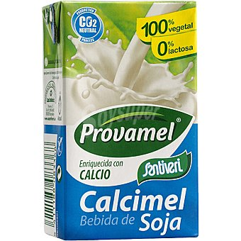 Provamel Calcimel bebida de soja natural enriquecida con calcio 100% vegetal sin lactosa Envase 25 cl