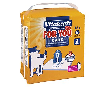 For You Vitakraft Empapador sanitario para cachorros Paquete de 15 unidades