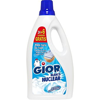 Gior Blanco Nuclear detergente maquina liquido recupera el blanco original botella 24 dosis Botella 24 dosis
