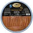 """Gourmet filetes de anchoa """"00"""" con aceite de oliva virgen y aceite de girasol Tarrina 125 g neto escurrido Lorea"""