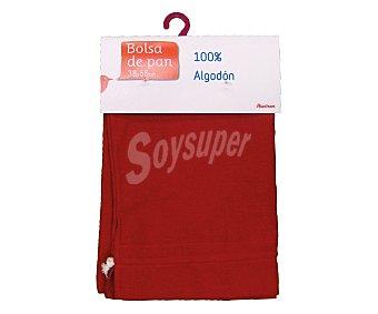 Auchan Bolsa de pan lisa, color rojo, 38x55 centímetros 1 Unidad