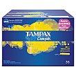 Tampones compak regular Paquete 36 u Tampax