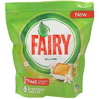 Fairy Detergente lavavajillas todo en 1 Fresh Orange Envase 31 c