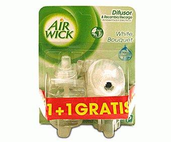 Air Wick Ambientador Eléctrico White Bouquet 2x1u
