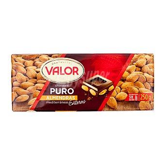 Valor Chocolate puro con almendras Tableta 250 gr