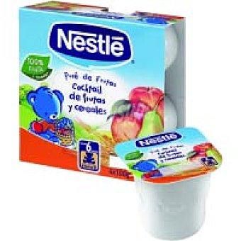 Nestlé Puré de frutas-cereales desde 6º mes Pack 4x100 g