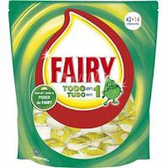 Fairy Lavavajillas máquina limón Bolsa 42+14 dosis