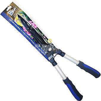 Hipercor Tijera cortasetos hoja recta con mango ergonómico fabricado en PVC