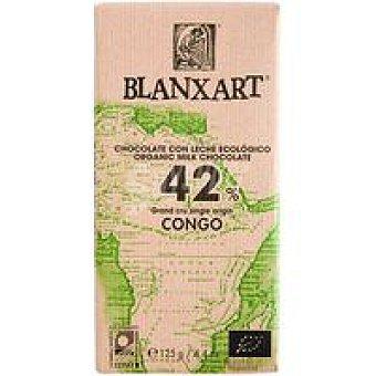 BLANXART Chocolate con leche 42% congo ecológico 1 u