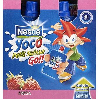 Nestlé Petit Suisse Go Fresa Yoco pack 4 unds. 80 g Pack 4 un