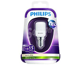 Philips Bombilla Led esférica 1.7W, casquillo E14 (fino), Luz cálida 1 unidad
