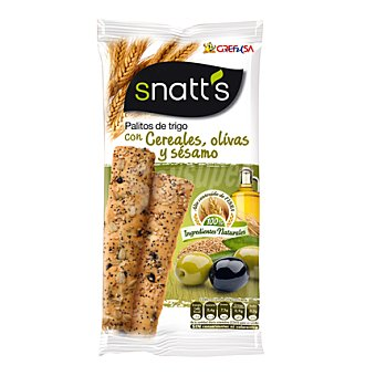 Grefusa Snatt's Palitos con olivas-cereales Bolsa 65 g