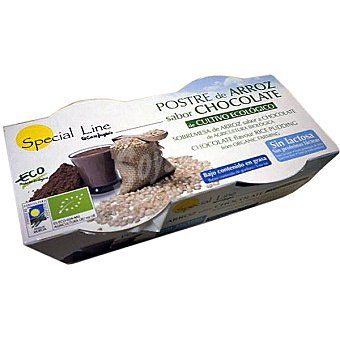 Special Line Postre de arroz sabor chocolate sin lactosa pack 2 x 125 g estuche 250 g Pack 2 x 125 g