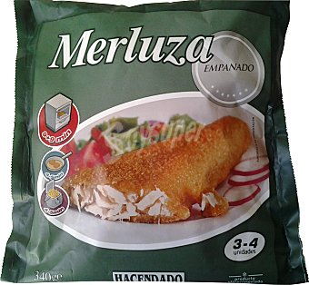 Hacendado Merluza congelada filete empanado Paquete 3 / 4 u