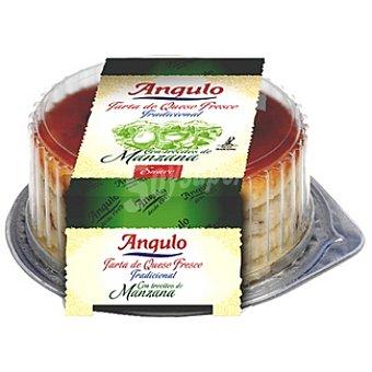 Angulo Tarta de queso fresco con trocitos de manzana Envase 180 g