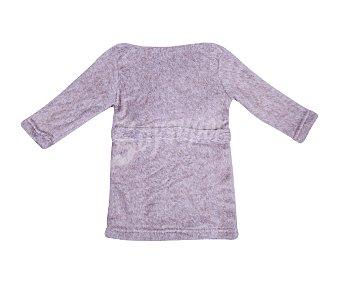 In Extenso Bata de algodón de manga larga, color marrón, talla 92
