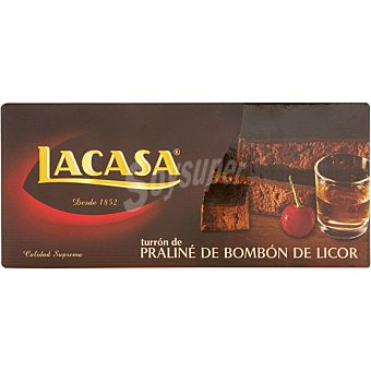 Lacasa Turrón praliné de bombón de licor Calidad Suprema Tableta 225 g
