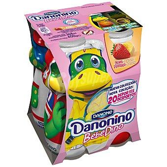 Danonino Danone Bebedino petit líquido sabor plátano y fresa  4 unidades de 100 g